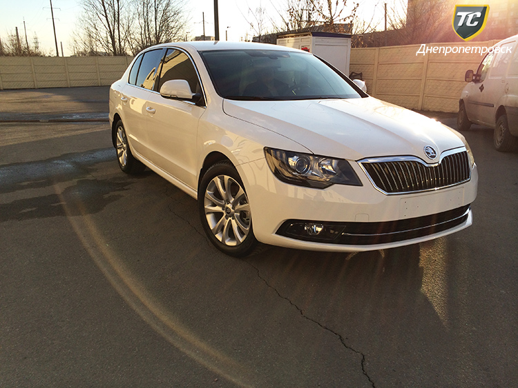 skoda superb 2014 white